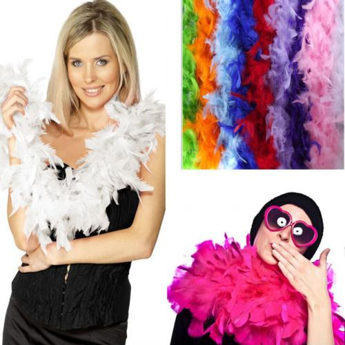 2M Feather Boa Strip Fluffy Craft Costume Fancy Dress Wedding Party Hen Night UK
