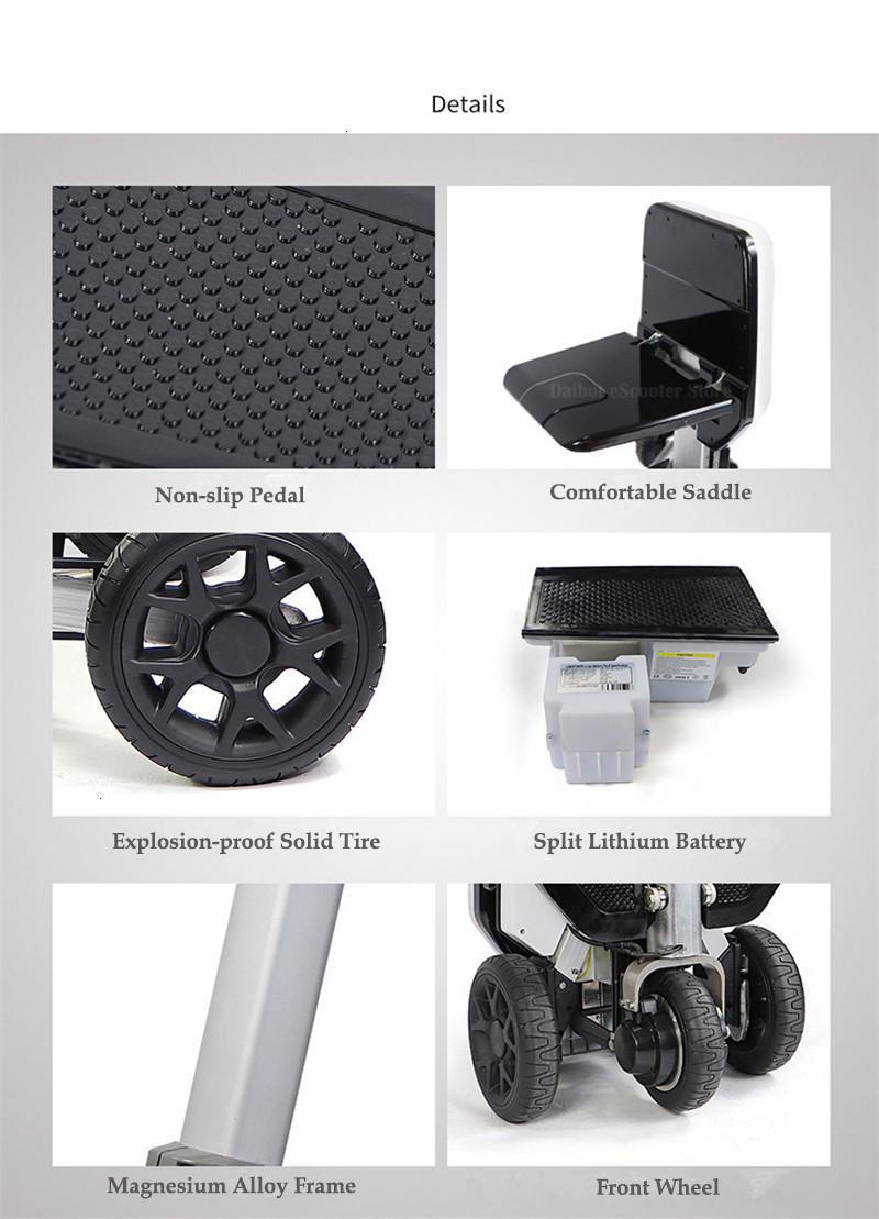 Disability Electric Scooter 3 Wheel Electric Scooter For Elderly Disabled Folding Electric Wheelchair (50)