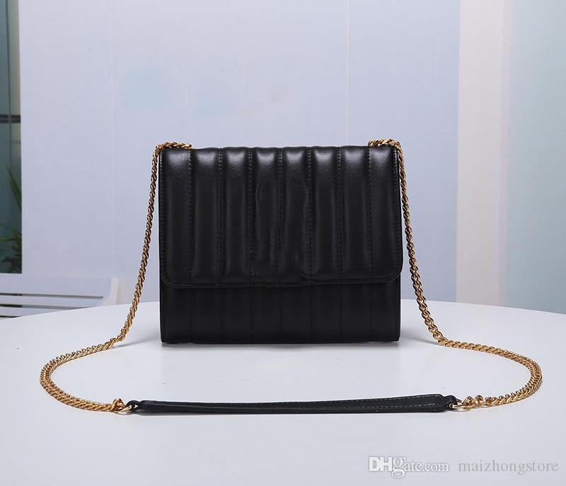 REAL LEATHER+CHAIN STRAP PURSE SHOULDER CROSSBODY REPLACEMENT BAG HANDBAG Copper