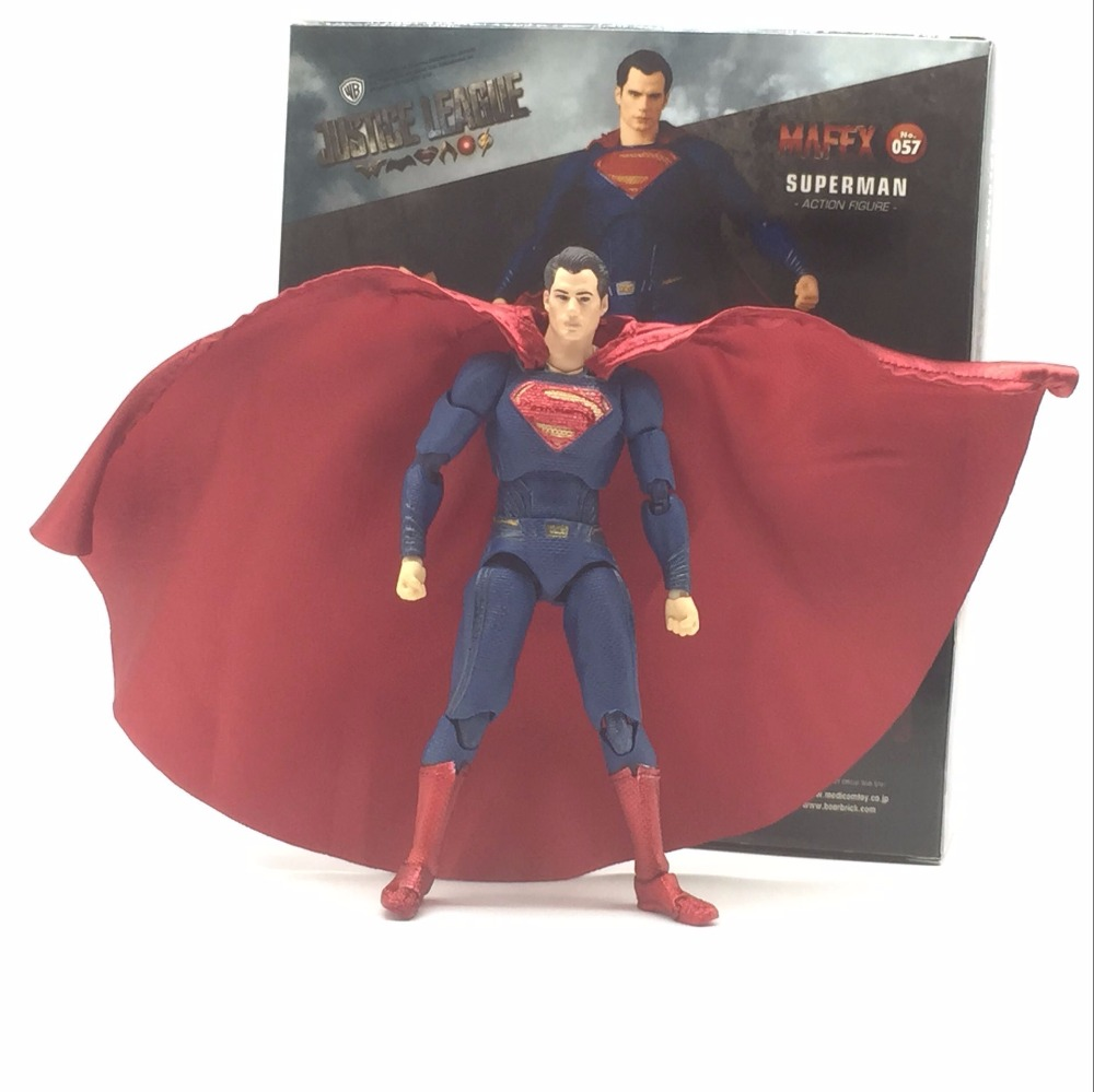 DC Justice League Super Hero MAFEX MAF Batman 056 Flash 058 Wonder Woman 048 Superman 057 Spiderman 047 Action Figure Toy Doll (6)