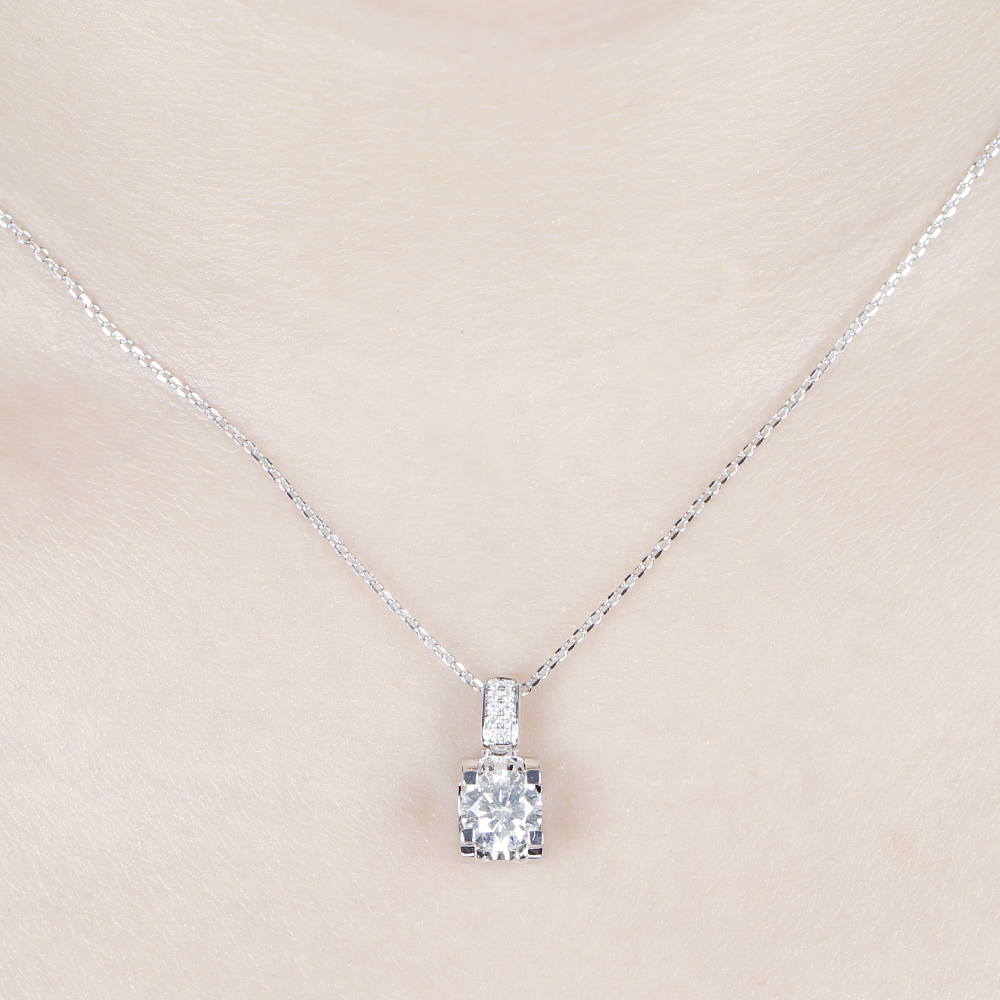 moissanite pendant necklace silver (6)