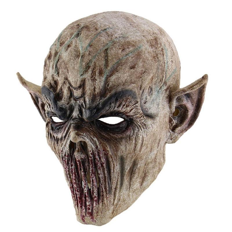 Maschera MOSTRO tibia Con Capelli Lattice horror Creepy Carnevale Halloween