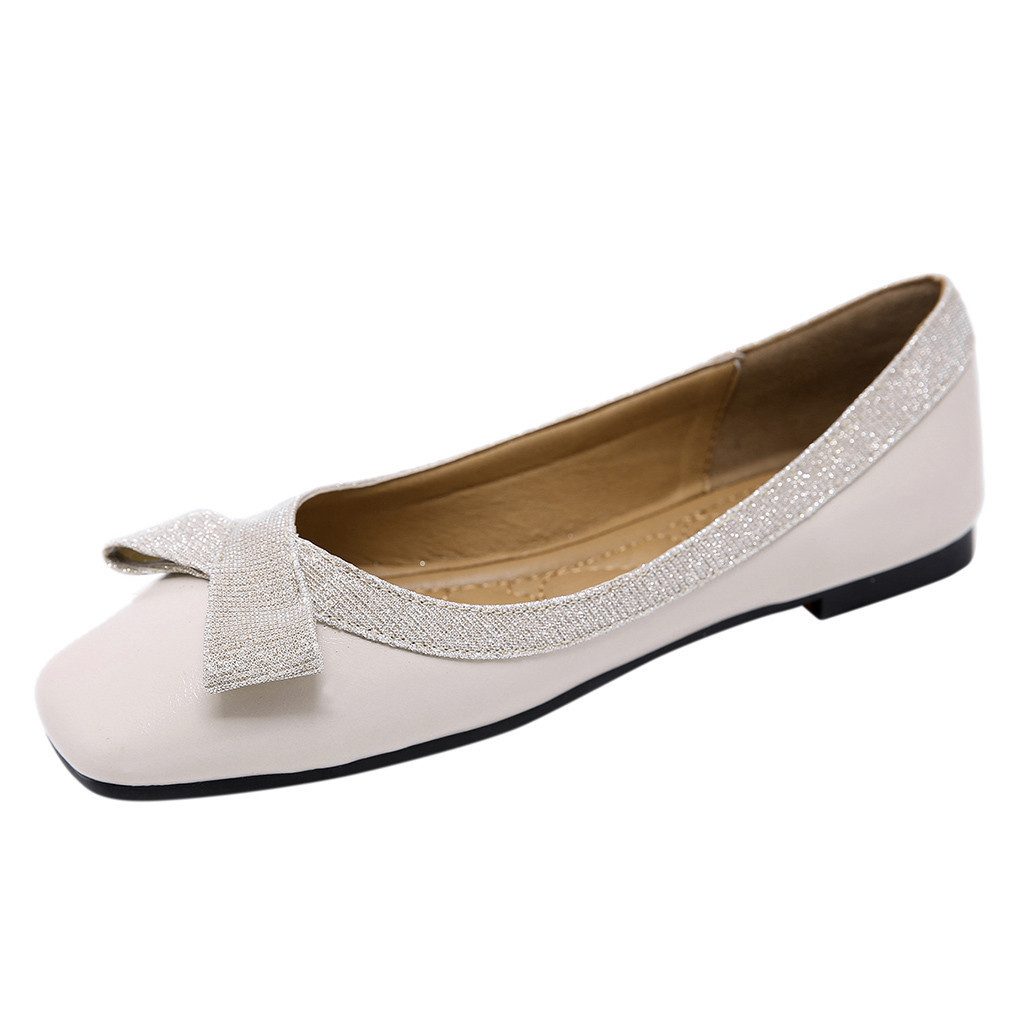Sexy Fashion Shoes Woman Ankle Strap Women Sequins Shallow Slip On Low Heel Party Shoes Mujer Female Pointed Single Shoes