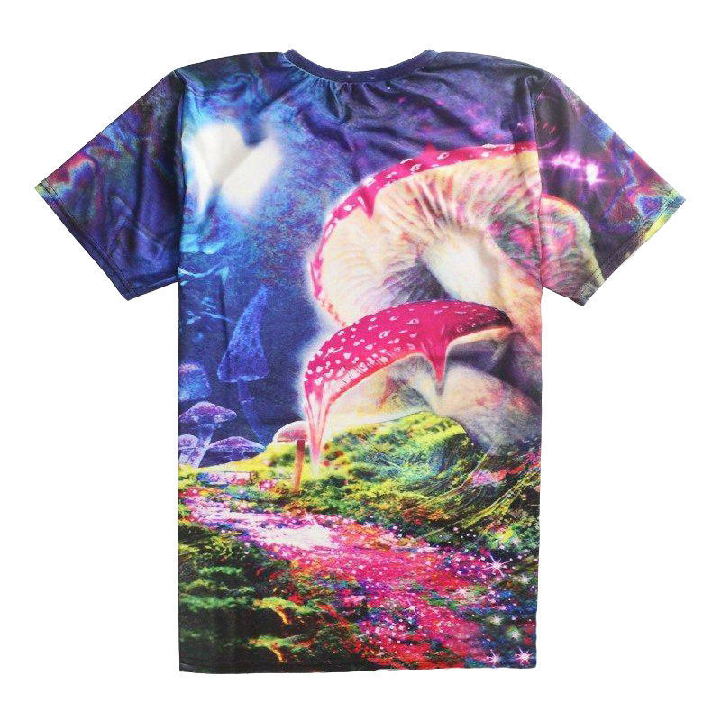 Plus Size 6xl Bad Trip T-shirt Psychedelic Vision Of A Melting Mushroom Tees Men/women 3d Print Fashion Colorful T Shirt Tops Y19050803