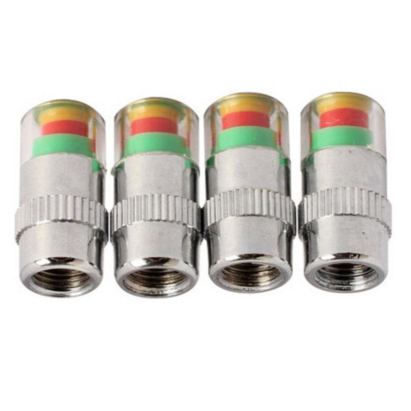 4PCS Car Auto Tire Pressure Monitor Valve Stem Caps Sensor Indicator Alert ED