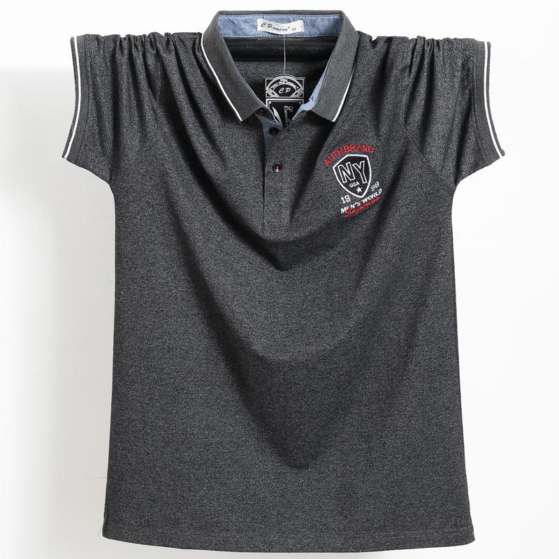 Homens Roxo Camisa Polo Top Homens De Negócios Camisa Masculina Algodão Crachá Trabalho Camisa Polo Plus Size 5xl 2018 Verão Casual Tee Camisa SH190717