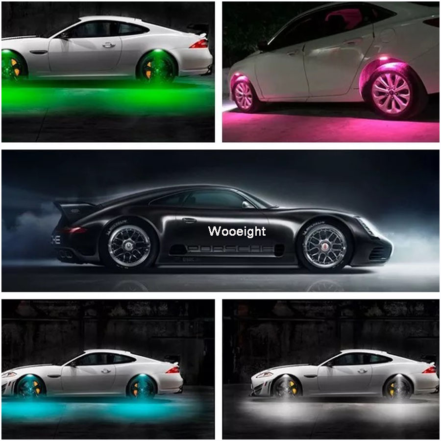 4Pcs Universal Multicolor Car Auto Wheel Hub Tire LED Decorative Atmosphere Light Lamp For BMW Benz Honda Civic VW Passat Kia (5)