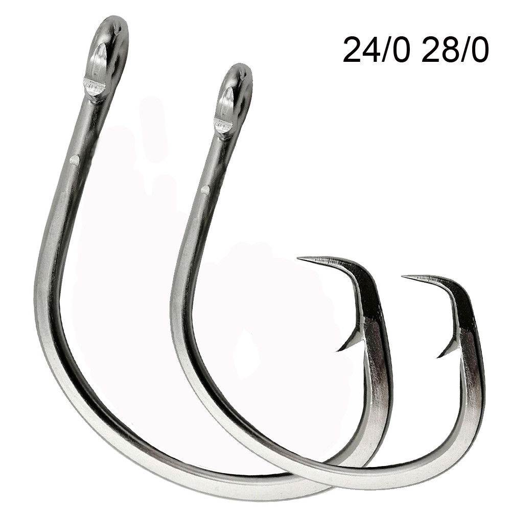 20 GT Stainless Steel Sea Demon Style Big Game Fish Fishing Hooks size 9//0