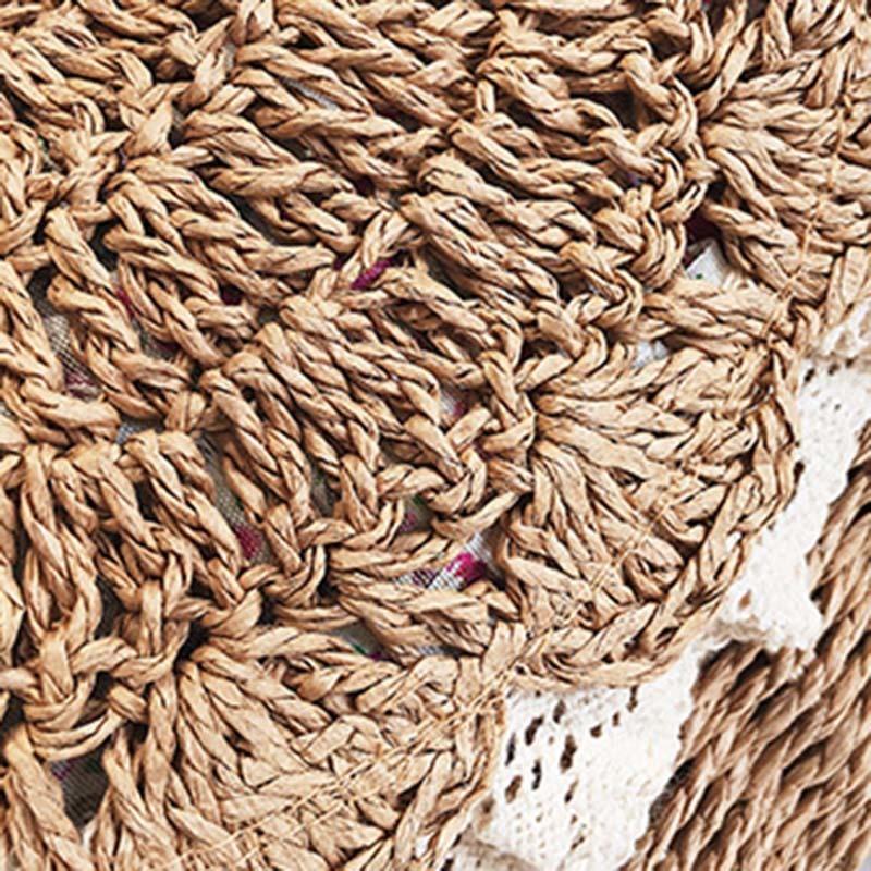 Women Lace Straw Bags INS Popular Female Holiday Handbag Summer Hot Lady Weave Shoulder Bag Travel Beach Casual Bolsa SS3150 (4)
