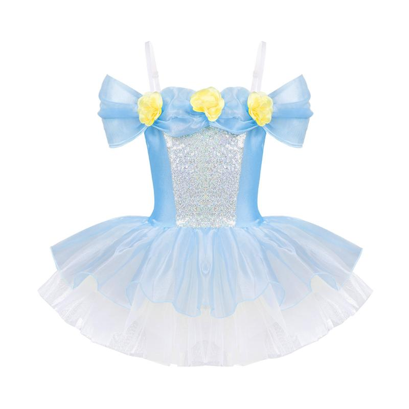 MSemis Flower Girls Dress Toddler Sequins Long Sleeve Pageant Princess Tutu Dance Skirts Formal Party Set