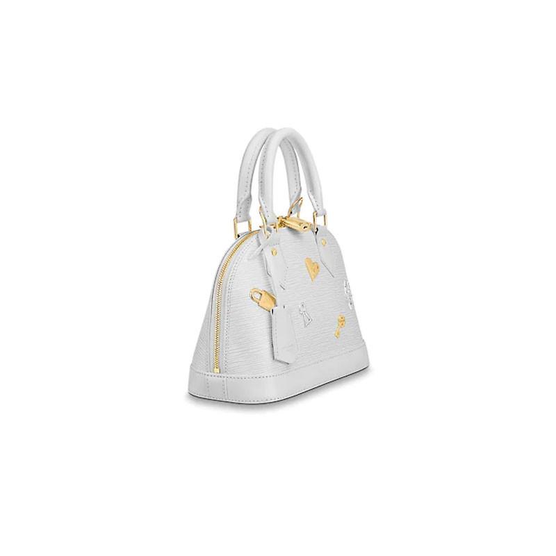 / 19 spring and summer new Love Lock handbag ALMA BB handbag fashion padlock key accessories Messenger bag shoulder bag M52884
