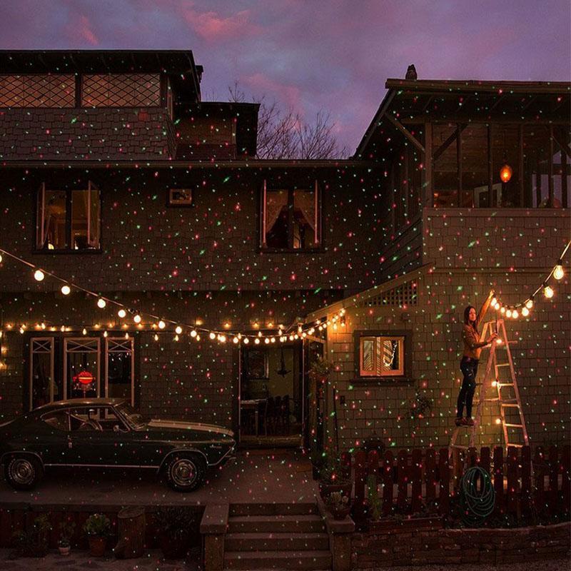 Proiettore laser esterni Natale Sky Star Stage Spotlight Showers Paesaggio Giardino Prato Luce DJ Disco Lights Decorazioni RG