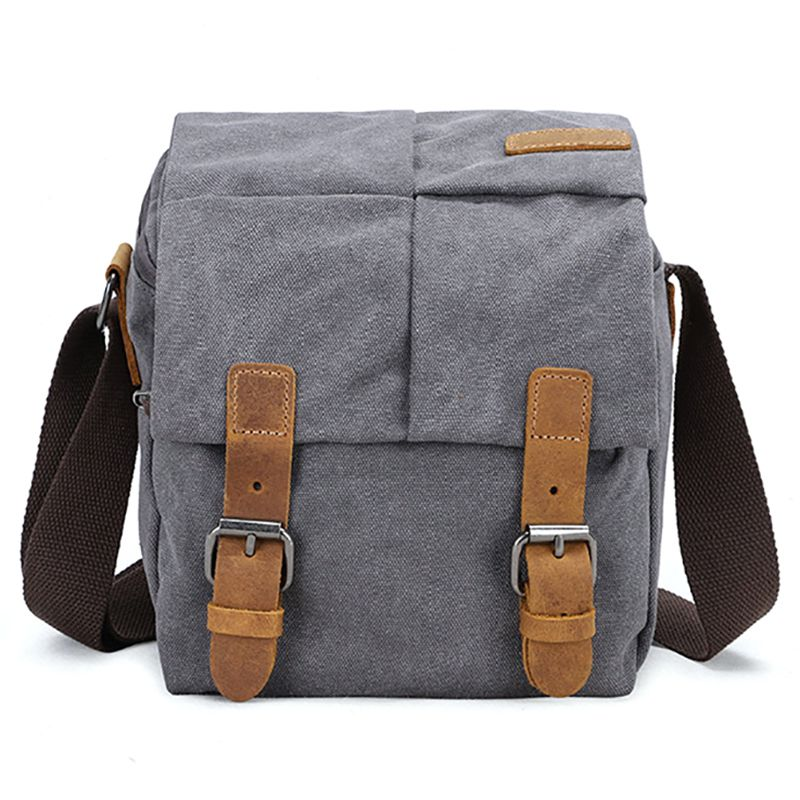 Casual Waterproof and wear-Resistant Business Backpack electronic SLR Photography Digital Camera Bag Mens Shoulder Messenger Canvas Bag
