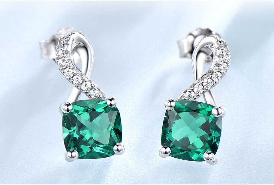 UMCHO Emerald 925 sterling silver jewelry sets for women S027E-1 pc (6)