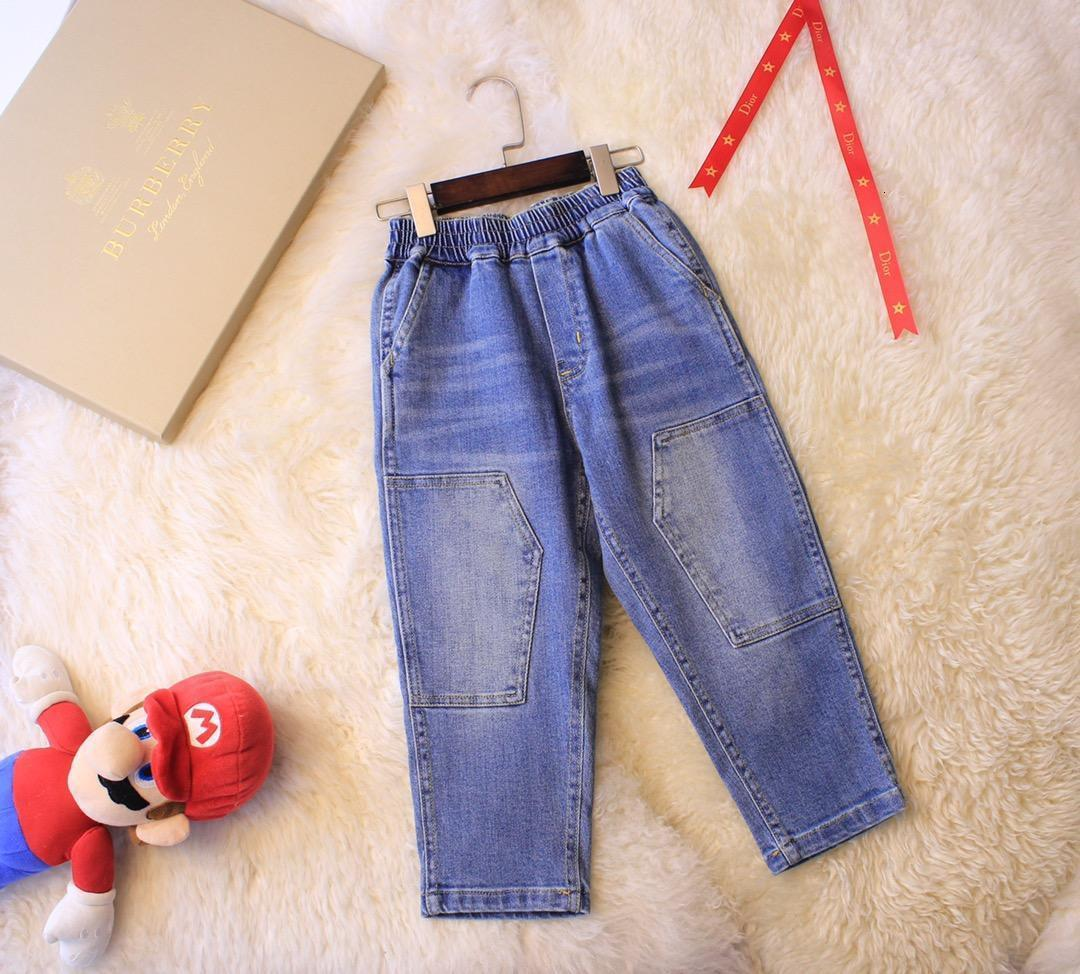 Kids Girls Boys Stretch Denim Pants Jeans Jeggings Elastic Waist Casual Trousers