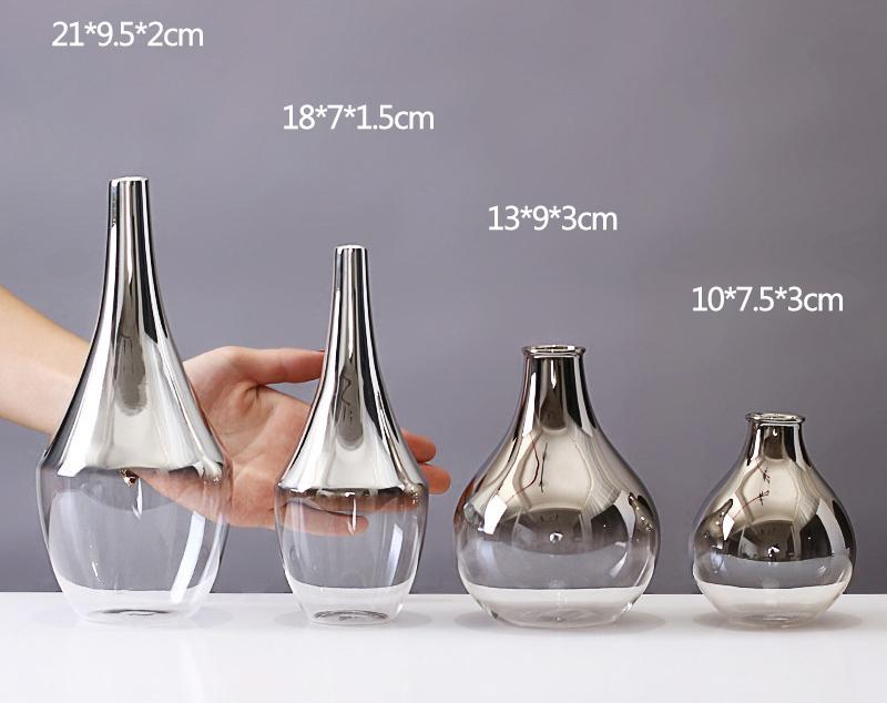 Nordic-Glass-Vase-Creative-Silver-Gradient-Dry-Flower-Pots-Desktop-Ornament-Home-Decoration-Plants-Holder-Furnishing