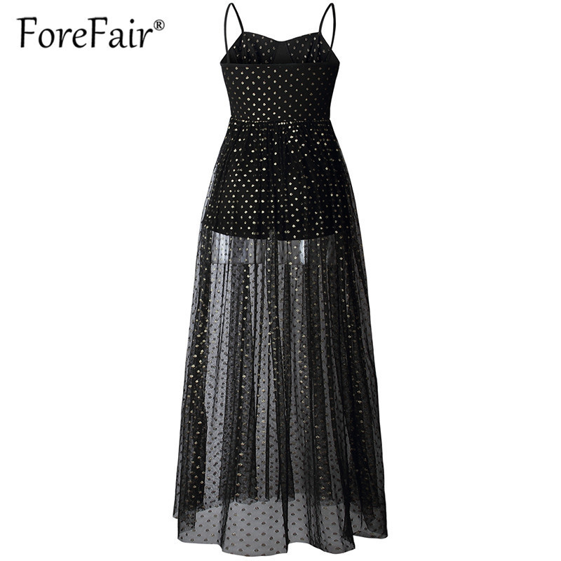 Forefair women long mesh dress elegant black white sleeveless maxi party dresses 2019 Swimwear summer beach dress (22)