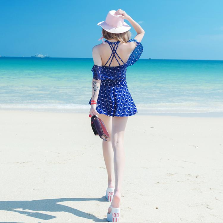 Parent-child Swimsuit Women Slim Conservative Beachwear Lovely Children Girl Bathing Suit Swimwear For Mother Daughter Swim Wear 6.5