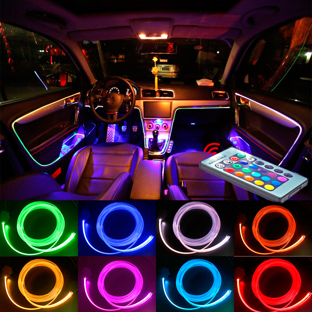 Sale For Car Atmosphere Lamp Bright Flexible Mini USB LED Light Lamp 2 Color