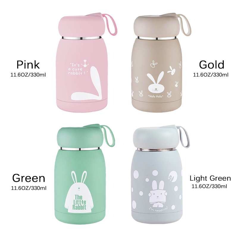 Stainless Steel Thermos Bottle Mug Vacuum Flasks Belly Cup Thermal Bottle For Water Insulated Tumbler For Kids Coffee Animal C19041601