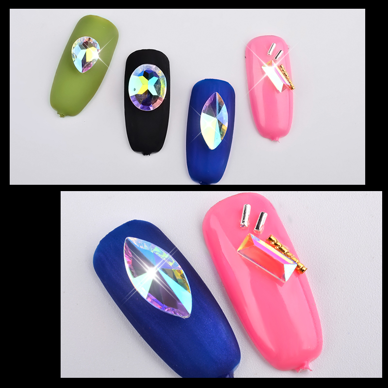 Nail Art Wheel Rhinestone Crystal Gems Glitter Diamond Decoration Polish Gel Uv 3d Tips Diy Jewelry Accessories Manicure Tool