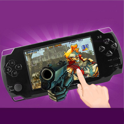 X8 4.3 Inch Touch Screen 8GB Portable Game Console With E-book TV Out Handheld Many Classical Free Games MP3 MP4 MP5 Player Free DHL