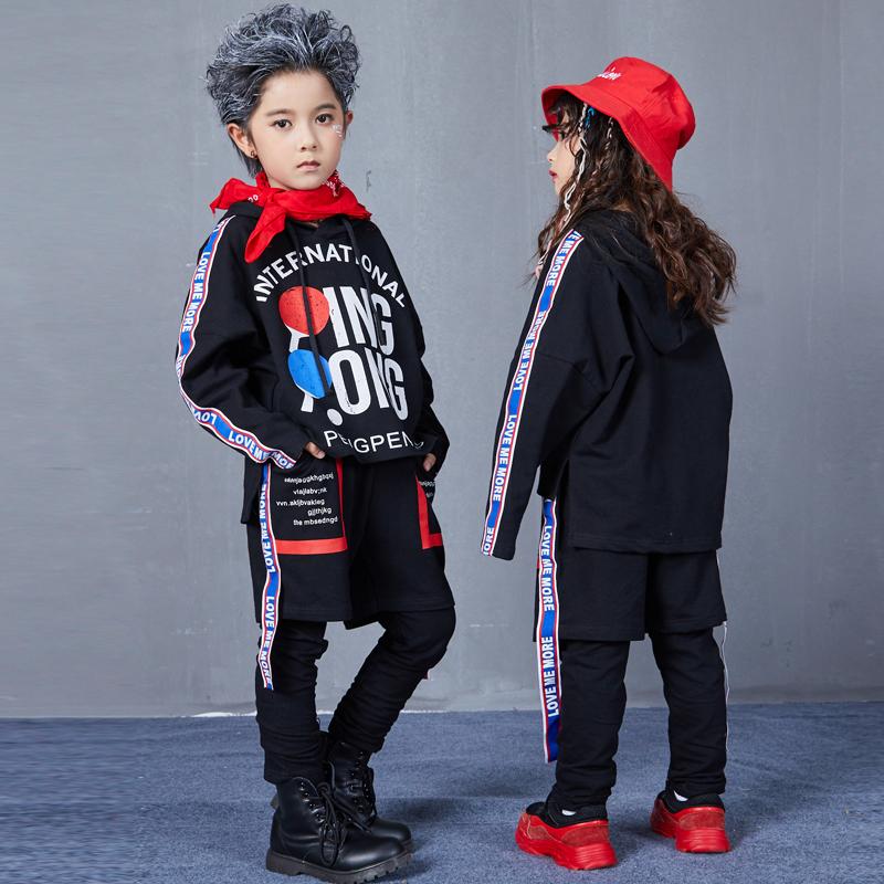Autumn Hip Hop Jazz Dance Costumes for Kids Street Dance Clothes Sets Boys Girls High Fashion Street Wear Size 6 8 10 12 14 17 T (5)