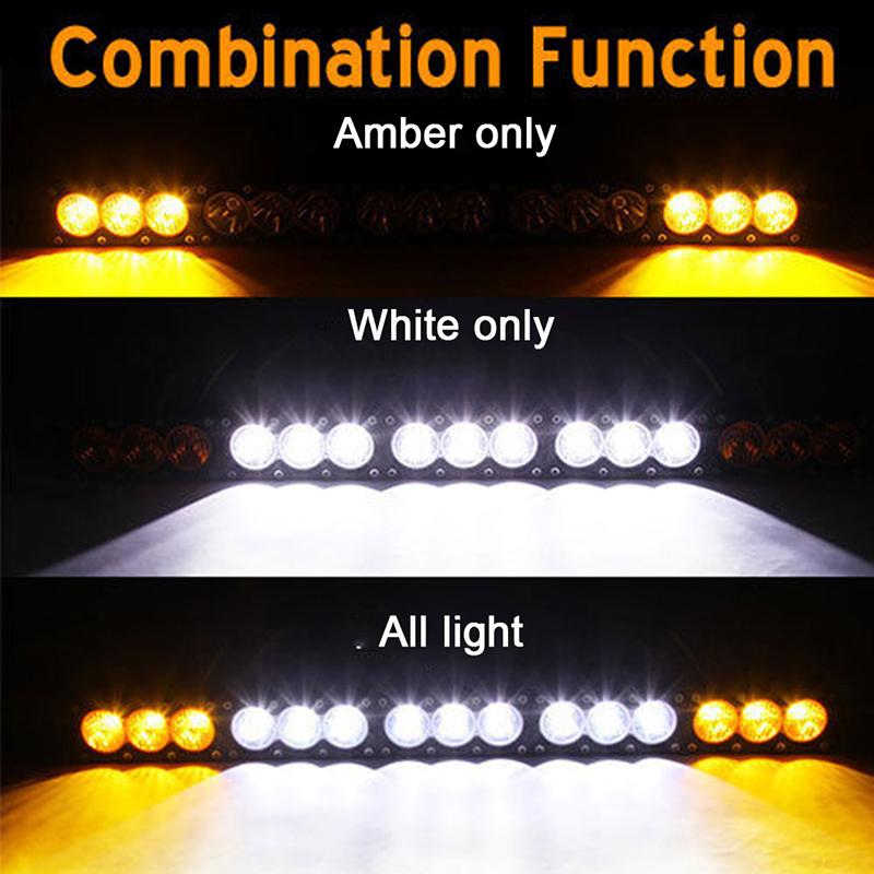 16 6 Inch 90w Led Light Bar Combo Beam White Amber Single Row Led Bar Lights 12v 24v For Lada Niva 4x4 Car Styling Leds Light Leds Lights From