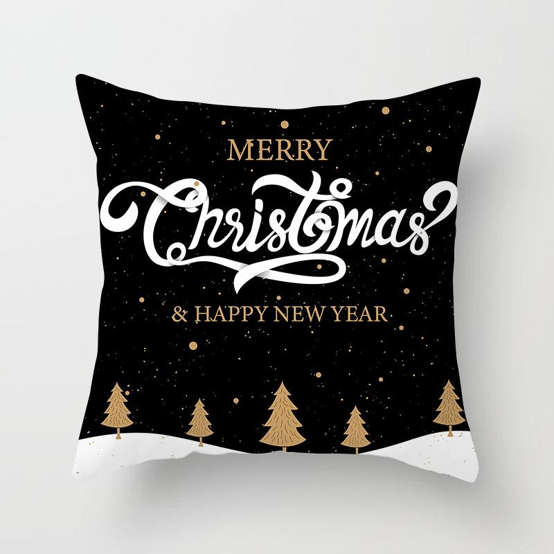 1Pcs 4545 Cm Happy New Year Christmas Decorations for Home Cartoon Santa Claus Xmas Decorative Pillows Cover adornos navidad (23)
