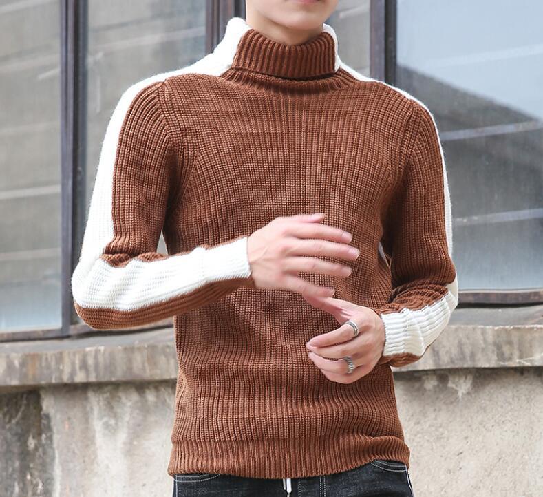 HOT SALE KOREAN Men/'s Fashion Necessary High Collar Bottoming Shirt Warm Sweater