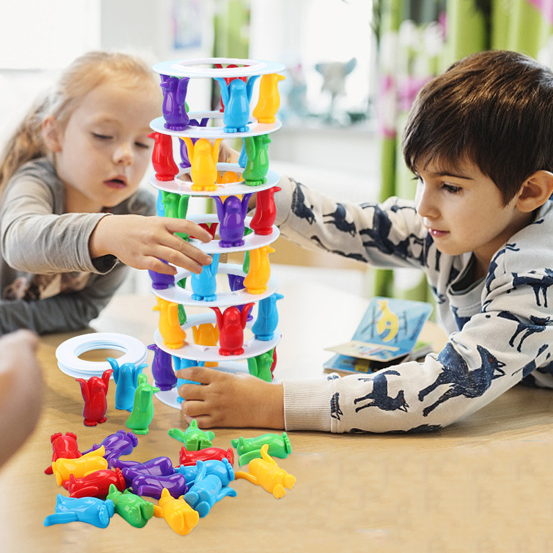 Children Toys Desktop Game Balance Toy Challenge Tower Stacked Parent-Child Interactive Board Game Intelligence Toys For Kids (5)