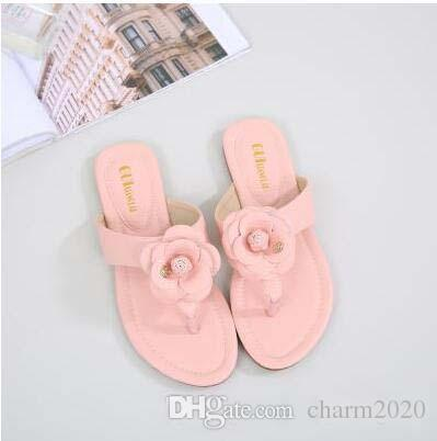 Pop 2019 Best Fit Fit Camellia Slippers Summer Flip Flops Shoes Pinch Flat Jelly Shoes Female Sandals Women Casual Shoes