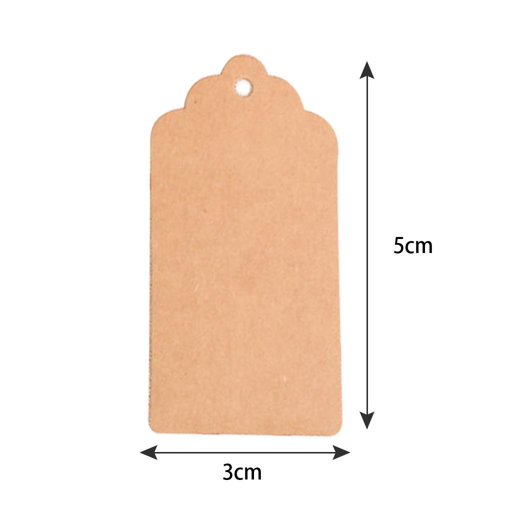 New Kraft Paper Craft Price Gift Tags Blank Christmas Home Restaurant Decoration Fashion Price Tags Kraft Paper
