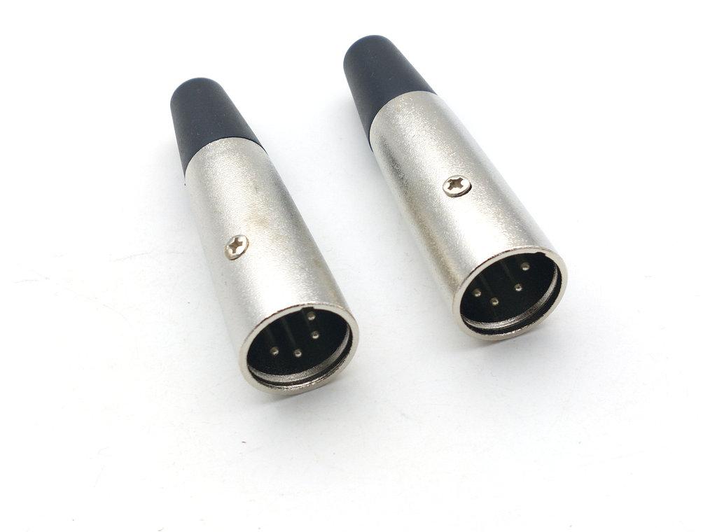 Cable Inline Female plug 4pin 10set Mini XLR 4-Pin Male plug Connector plug M//F