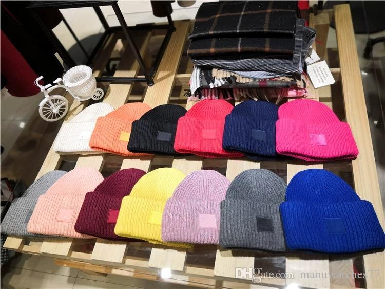 Acne Studios Smiling face Beanie Skull Caps knitted Cashmere Eye Warm Couple Lovers Acne Hats Tide Street Hip-hop Wool Cap Adult Hats