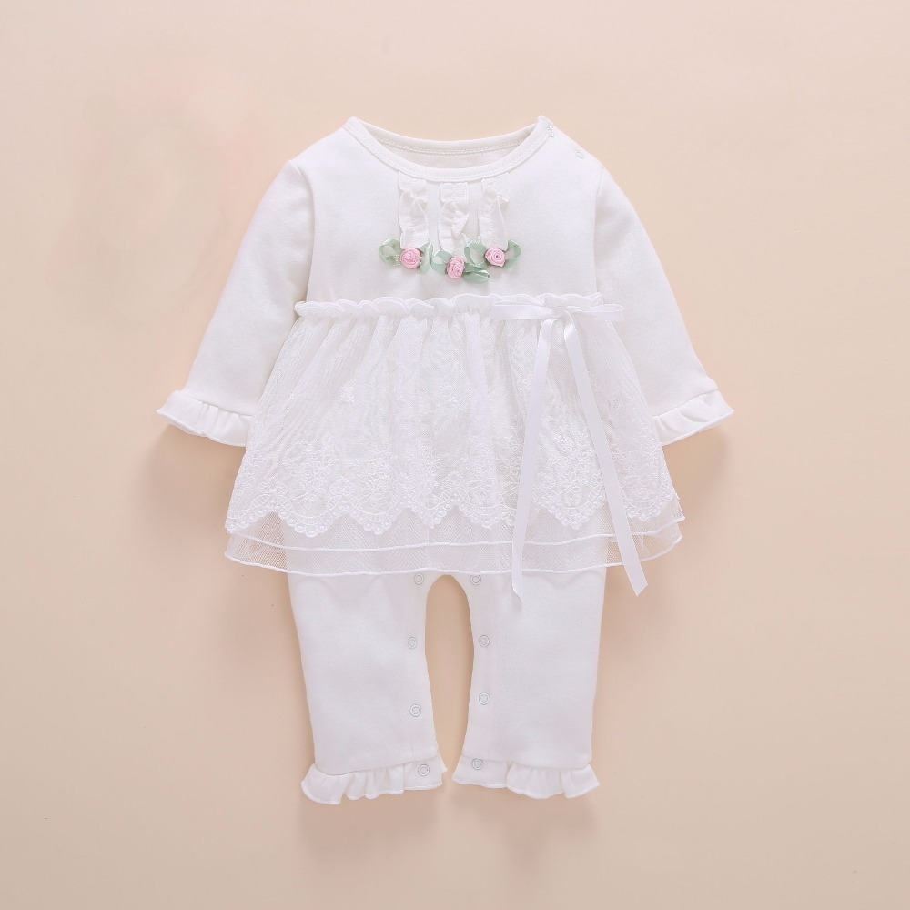 391a70f1451d6 2019 New Born Baby Girl Clothes Romper Cotton Cute Embroidery Baby ...