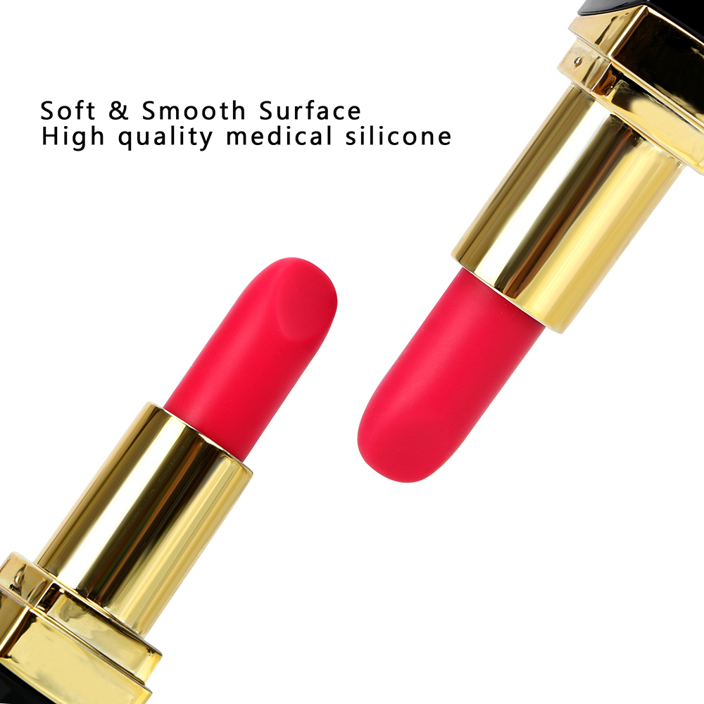 Olo Mini Vibromasseur Rouge À Lèvres 10 Vitesse Secret Clitoris Stimulateur Mamelon Massage Balle Vibrant Baguette Magique Sex Toys Pour Femmes Y190722
