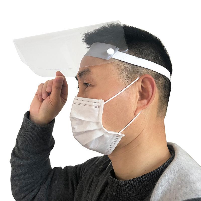 M/áscara de Seguridad Protector Facial Protecci/ón de Ojos M/áscara Protectora Transparente Visera de la Cara,Sin Sombrero(Desmontable y Port/átil)