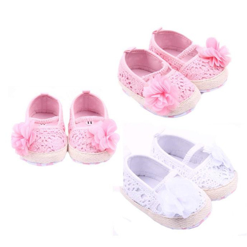 Baby Girls Shoes Toddler Kids Baby Girl Solid Flower Soft Sole Anti-slip Shoes Baby Girls First Walker Shoes M8Y11 #F (1)