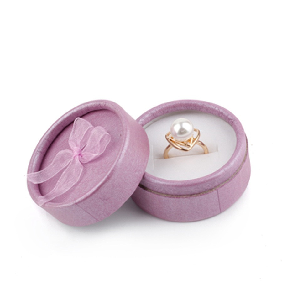 Wholsale Favor Bag Wholesale Multi Colors Round Jewelry Boxes Ring Earrings Bags 5.5x3.5cm Packing Gift Box