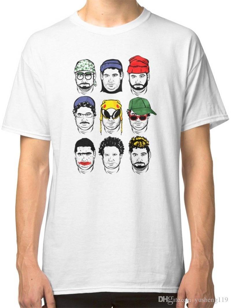 Удобные мужские шею с круглым вырезом с короткими подарками The Faces Of H3H3 Shirts