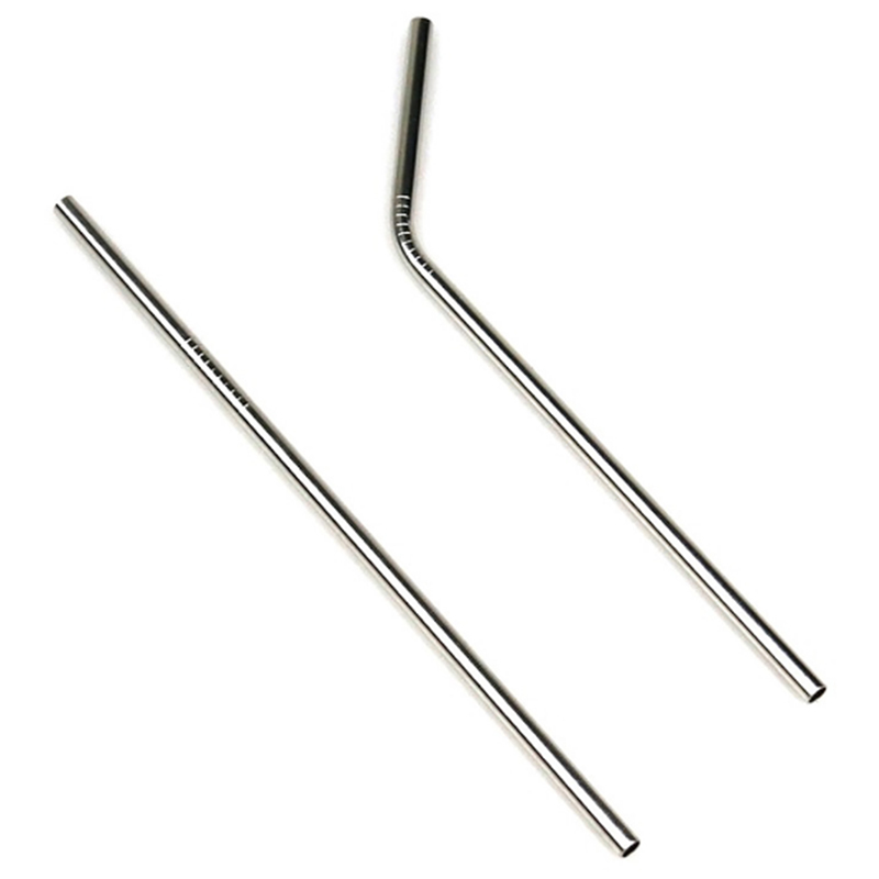 Reusable Drinking Straw 304 Stainless Steel Metal Straw With Cleaner Brush For Mugs 20/30oz Home Party Bar Accessories C18112301