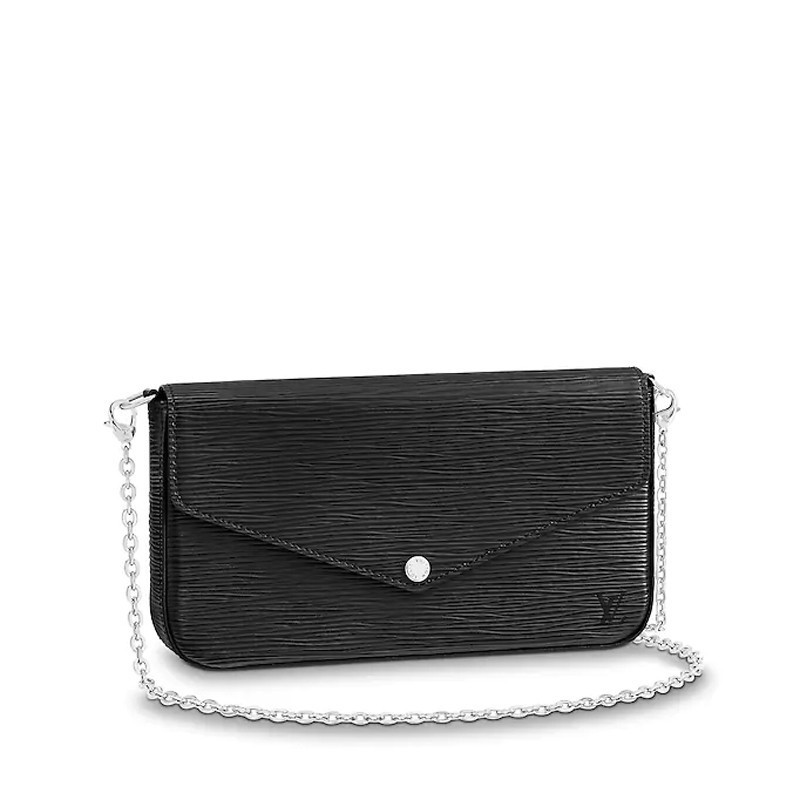 / handbag shoulder bag clutch bag buckle open patent leather chain bag M62648
