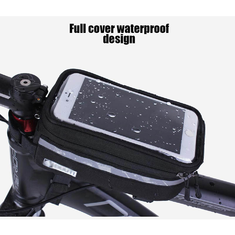 Bicycle Phone Bag Case Touch Screen Waterproof Bike Frame Front Tube Storage Bag Pouch Case for iPhone Samsung 3.5-6 inch Phones (10)