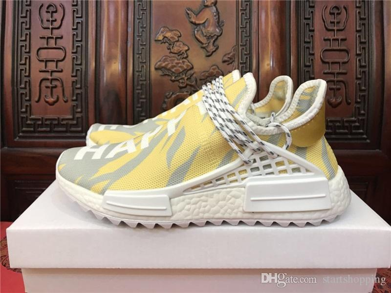 Human Nmd Race Hu Trail Pharrell Williams Happy New Mens Designer Sports Running Shoes For Men Sneakers Women Casual Trainers