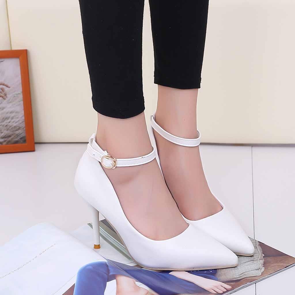 Dress Shoes Xiniu Women Single Pumps Heels Sexy Pointed Toe Thin Heels Casual Wedding Spring Autumn Lady