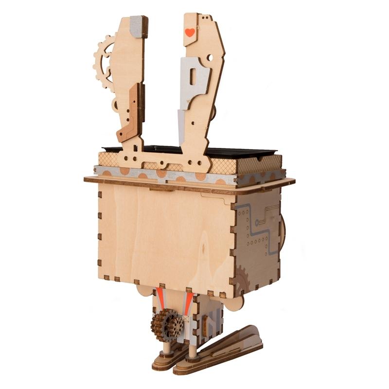 wholesale Children Adult Cute Bunny Flower Pot 3D Wooden Puzzle Game Educational Models & Building Kits Toy Model FT741