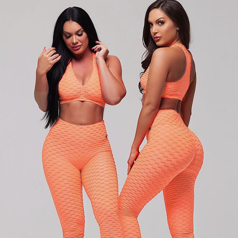 Womens Solid Sexy Thin Slim Athleisure Fitness Sets Thin Slim Sexy Tracksuits High Waist Workout Ioga Elastic (19)