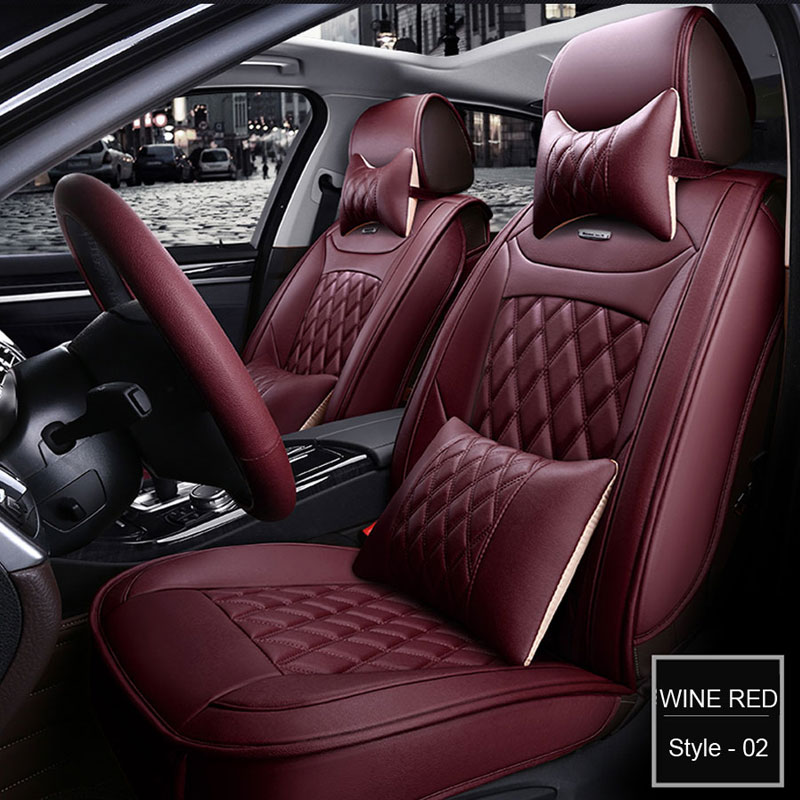 CAR SEAT COVERS CHARCOAL GREY RED BEADING TO FIT A AUDI A5