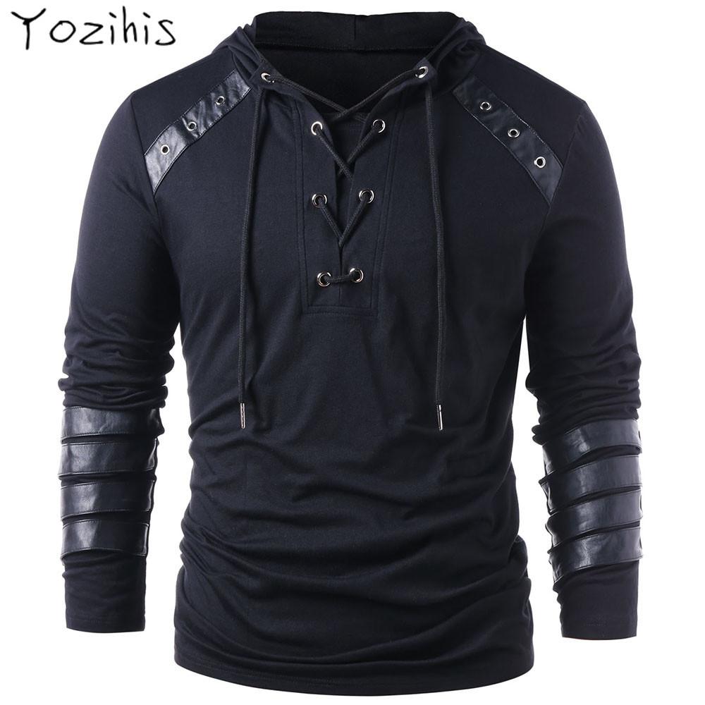 Homme Cuir Synthétique Transparent Maille Sans Manches Muscle T-shirt Tops Sweat à Capuche Club Wear